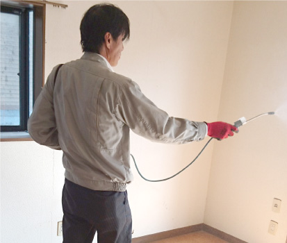 除菌作業の様子